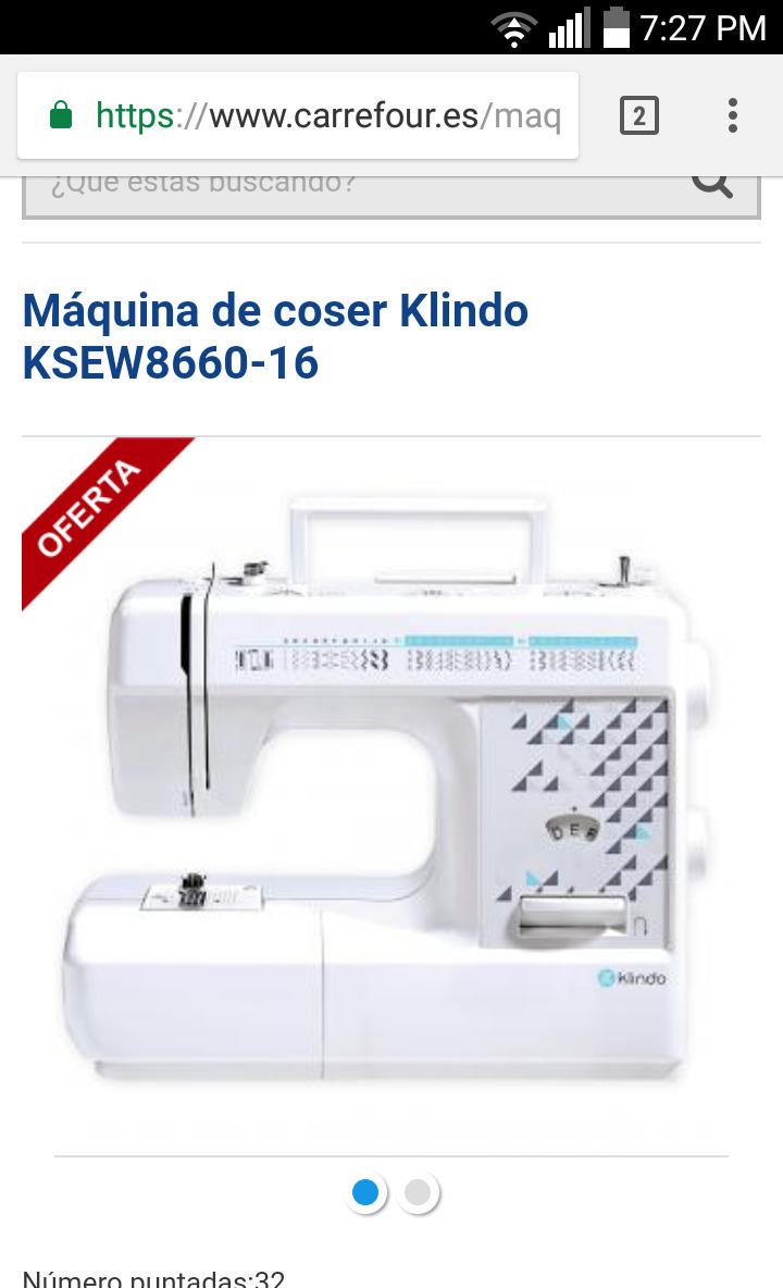 Request Máquina de coser Klindo KSEW8660-16| Las mejores
