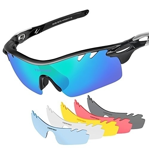 94021c61abe Request Tsafrer Polarized Sports Sunglasses with 6 Interchangeable Lenses  for
